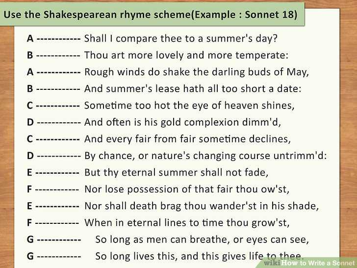 Poetry Analysis Worksheet Answers as Well as How to Write A sonnet with 2 Sample Poems Wikihow