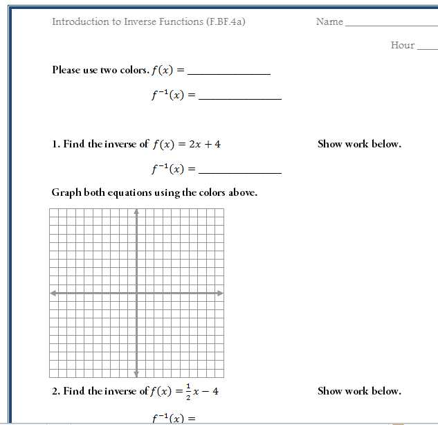 Precalculus Inverse Functions Worksheet Answers as Well as Math Functions Worksheets Free Trigonometry Ratio Review Worksheet