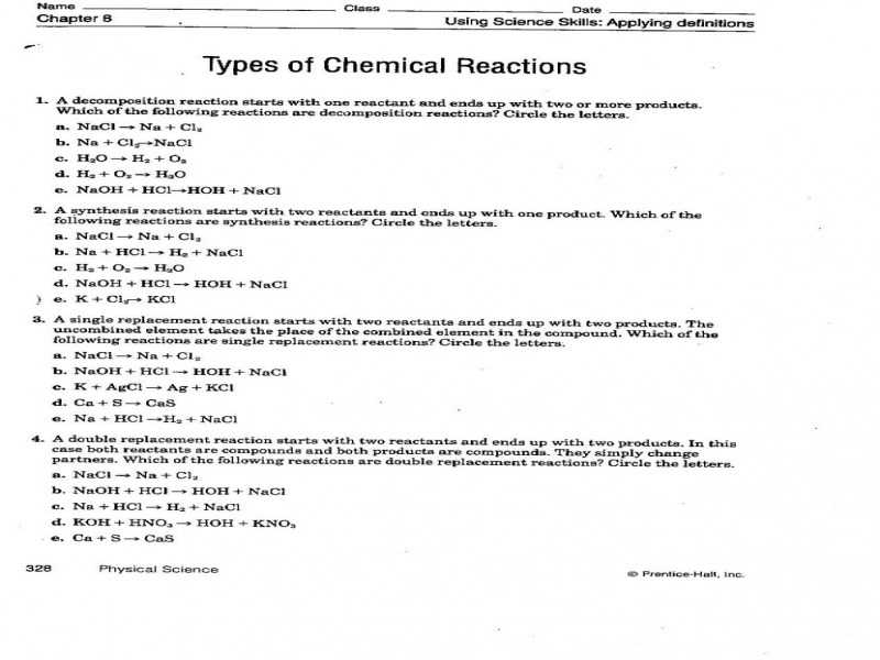 Predicting Products Worksheet Answer Key with New Predicting Products Chemical Reactions Worksheet Luxury