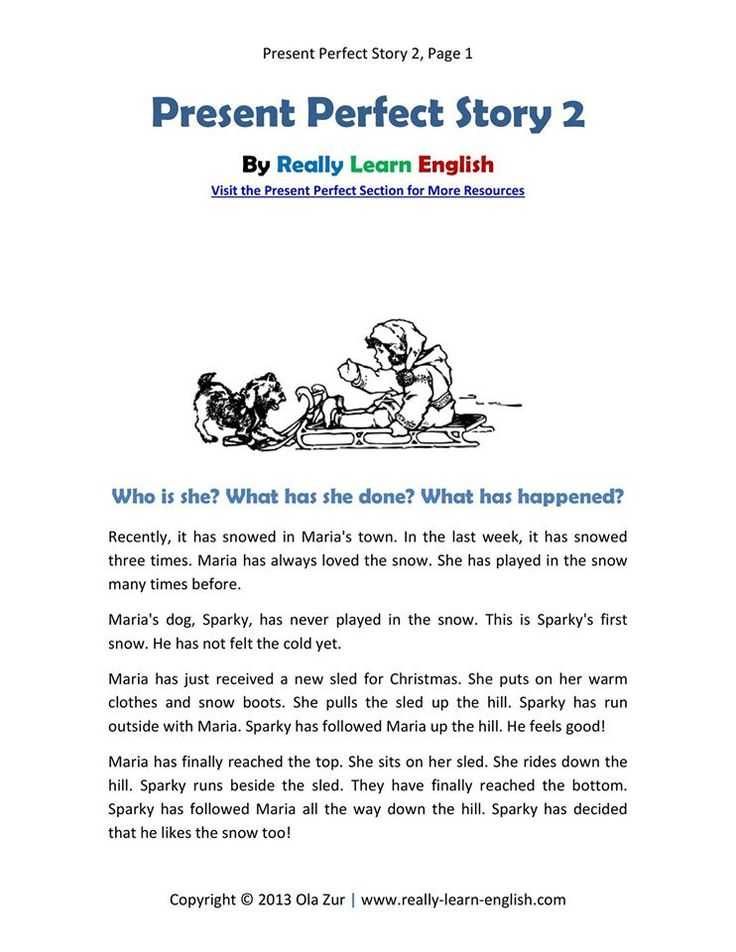 Present Perfect Tense Exercises Worksheet as Well as 25 Best English by Story Images On Pinterest