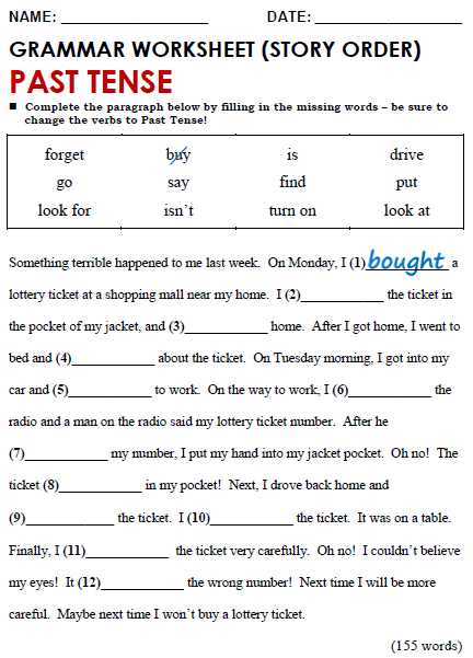 Present Perfect Tense Exercises Worksheet with Past Simple All Things Grammar
