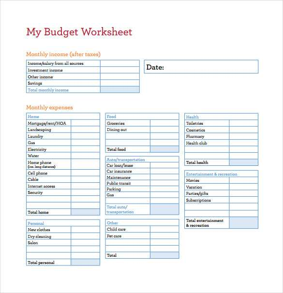 Printable Budget Worksheet Pdf Also Free Bud Sheets Guvecurid