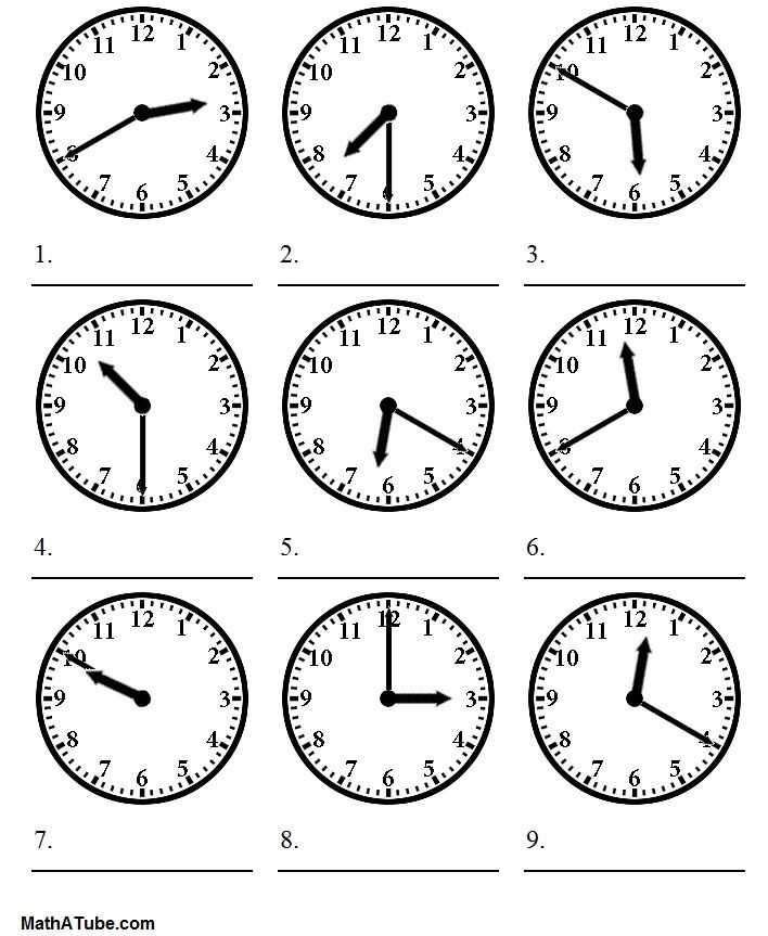 Printable Clock Worksheets and Telling Time Worksheets Telling the Time Worksheet