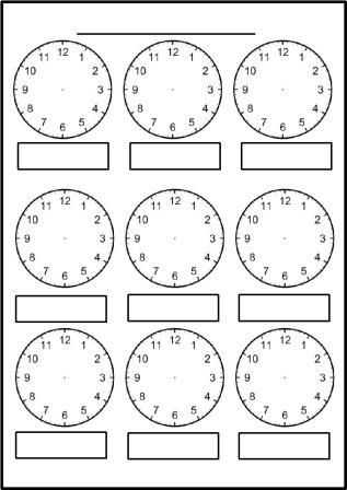 Printable Clock Worksheets with Free Printable Blank Clock Faces Worksheets