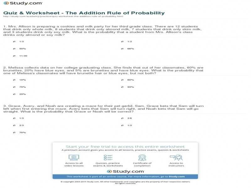 Probability theory Worksheet 1 Also Empirical Probability Worksheet Image Collections Worksheet Math