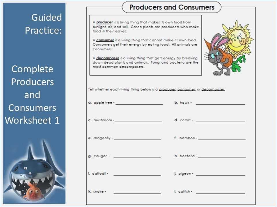 Producer Consumer Decomposer Worksheet as Well as Producers and Consumers Worksheet Choice Image Worksheet Math for Kids