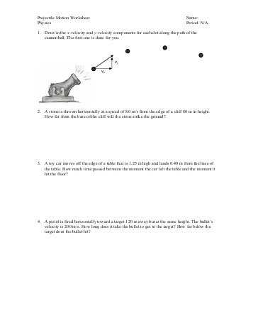 Projectile Motion Simulation Worksheet Answer Key Also Worksheets 49 Unique Projectile Motion Worksheet High Resolution