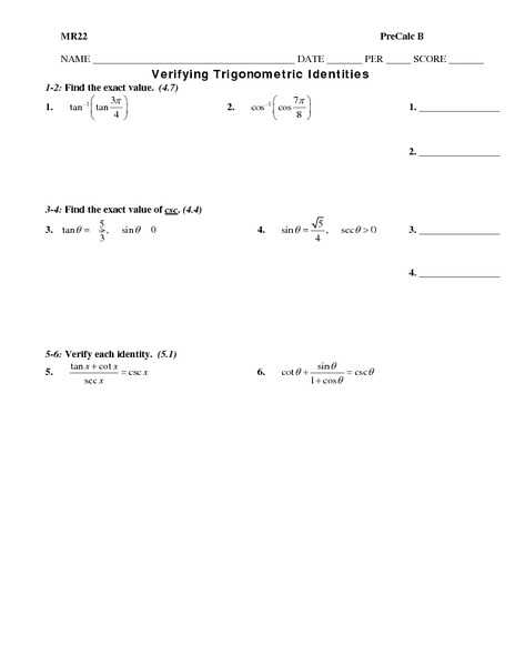 Proving Trig Identities Worksheet together with Worksheets 41 New Trig Identities Worksheet Hi Res Wallpaper