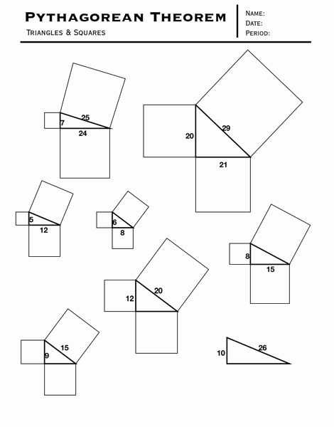 Pythagorean Puzzle Worksheet Answers with 158 Best Math Pythagorean theorum Images On Pinterest