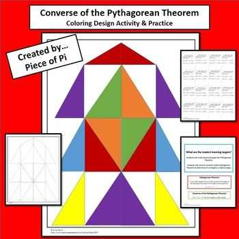 Pythagorean theorem Coloring Worksheet as Well as Free This Geometric Coloring Design Will Help Students Practice