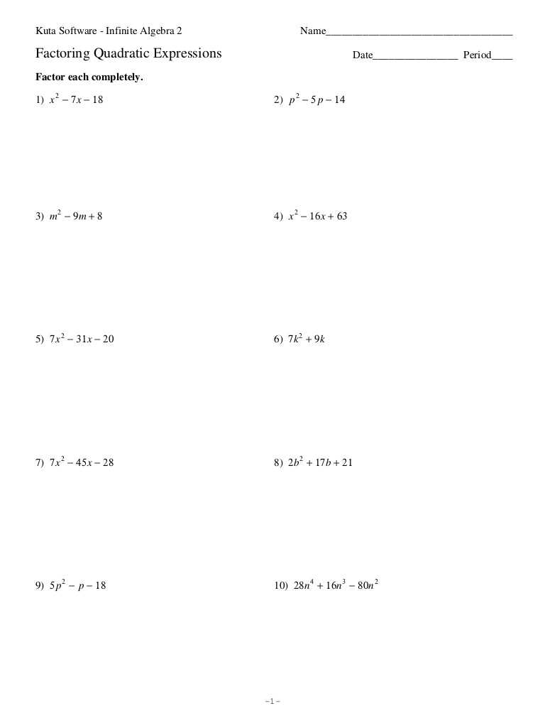 Quadratics Review Worksheet or Lovely solving Quadratic Equations by Factoring Worksheet Unique