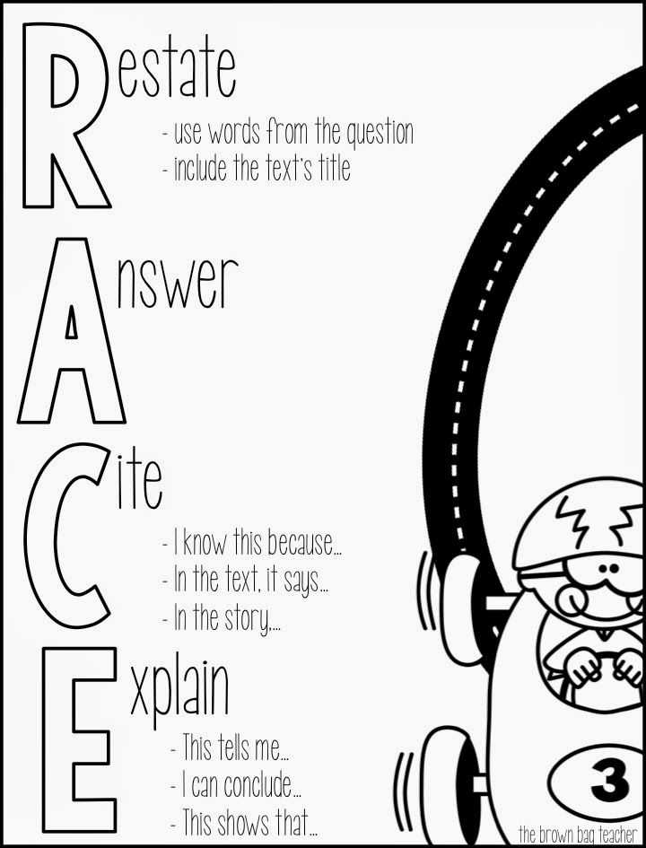 Race Writing Strategy Worksheet with 131 Best School Writing Essay Images On Pinterest