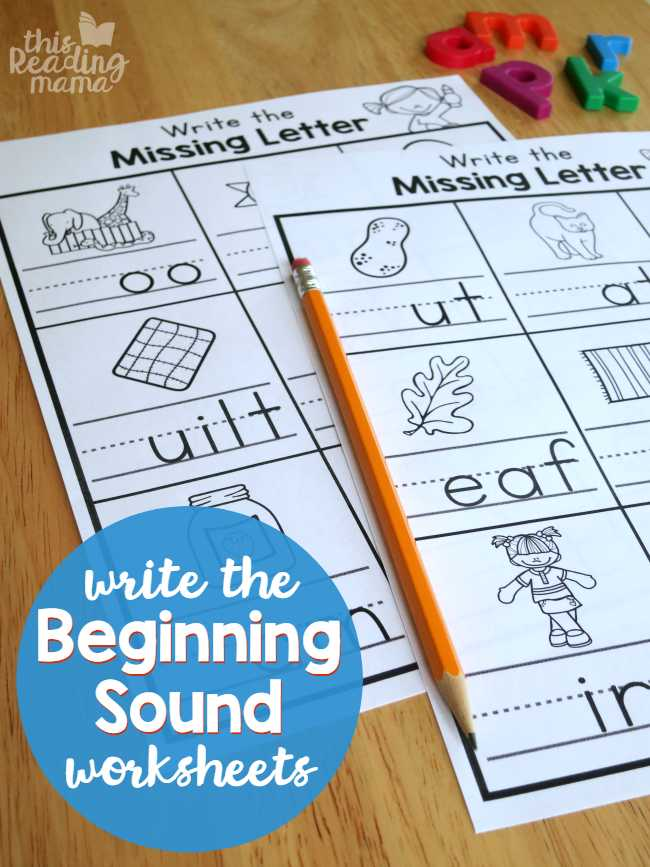 Reading Help Wanted Ads Worksheets with Write the Beginning sound Worksheets This Reading Mama