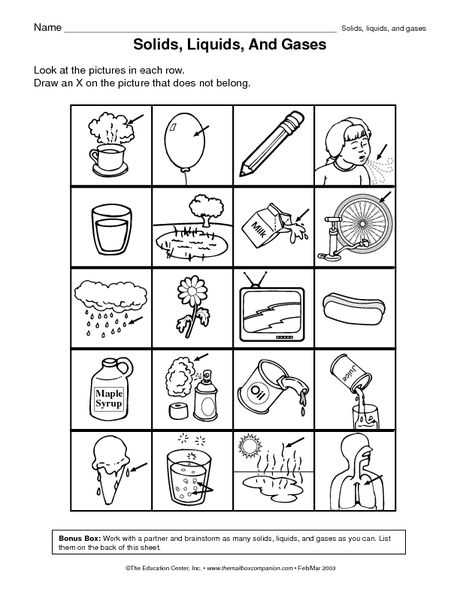 Science 8 States Of Matter Worksheet with 8 Best Matter Images On Pinterest