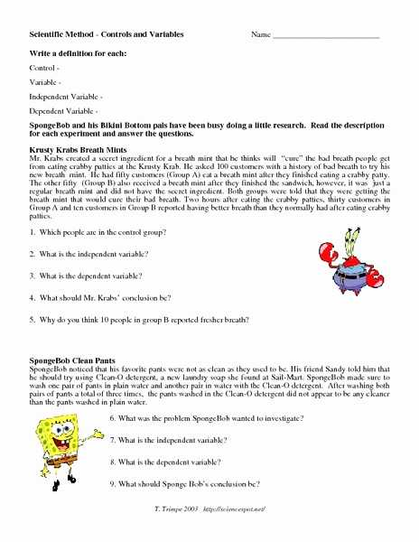 Scientific Method Review Worksheet or Experimental Variable Worksheet Answers Best 37 Beautiful Graph