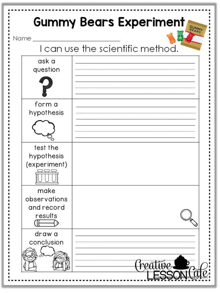 Scientific Method Worksheet Answer Key Also Elementary Scientific Method Worksheet Worksheets for All