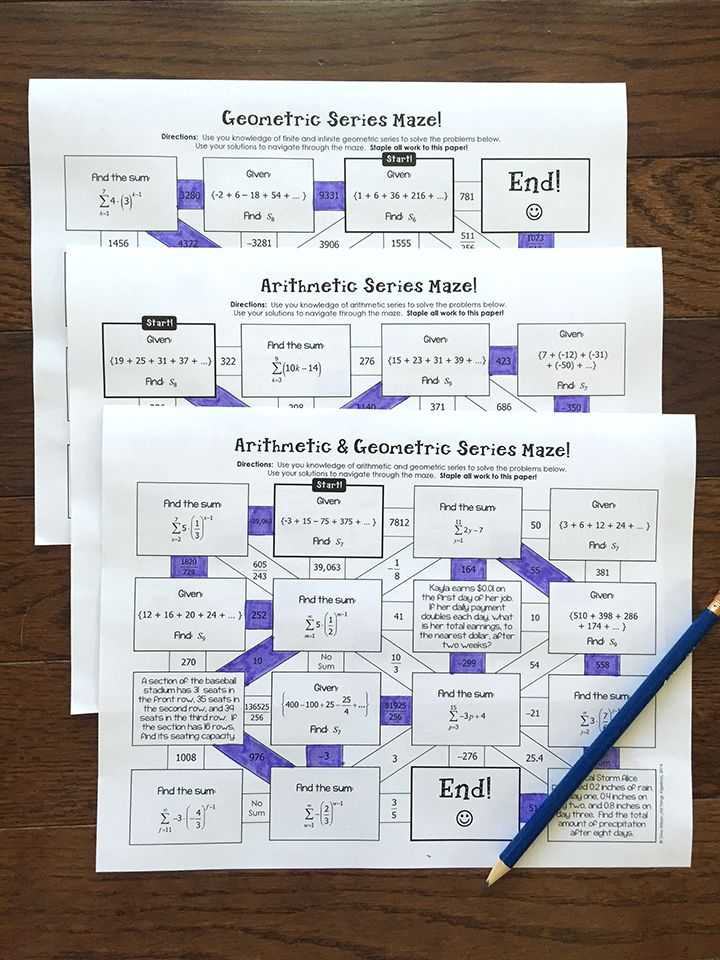 Sequences and Series Worksheet Answers as Well as 92 Best Math Sequences Images On Pinterest