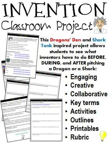 Shark Tank Worksheet Pdf and Inventor Research & Invention Project