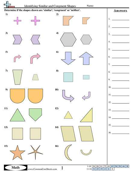 Similar and Congruent Figures Worksheet Along with Quadrilaterals Worksheet