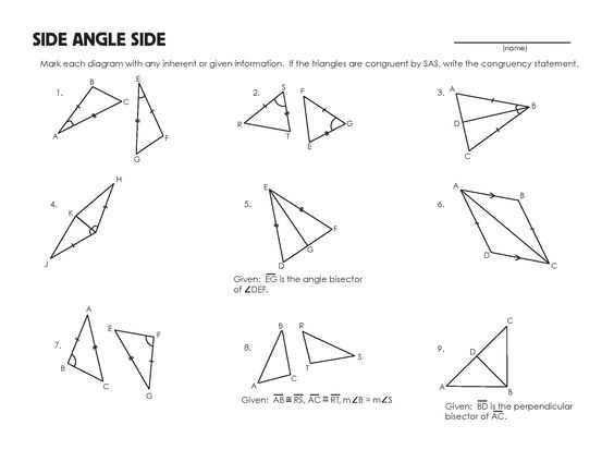 Similar and Congruent Figures Worksheet with Congruent Triangles Worksheet Grade 9 Kidz Activities