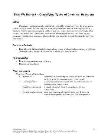 Six Types Of Chemical Reaction Worksheet together with 18 New Six Types Chemical Reaction Worksheet