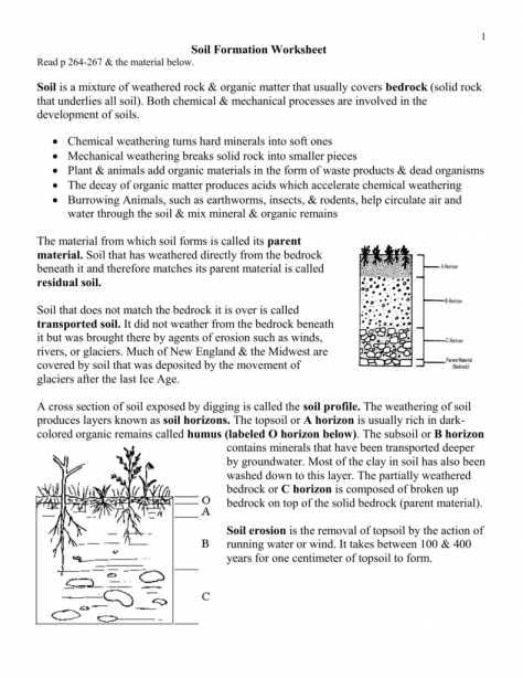 Soil formation Worksheet Also Unique Weathering and soil formation Worksheet Answers Unique 25