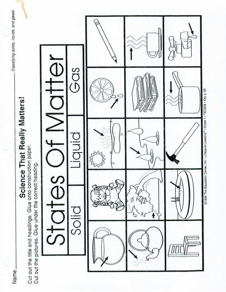 Solid Liquid Gas Worksheet Along with 86 Best States Of Matter Images On Pinterest