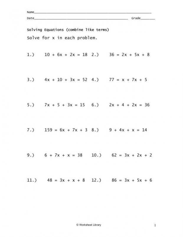 Solving Equations with Variables On Both Sides Worksheet 8th Grade as Well as Worksheets 49 Fresh Multi Step Equations Worksheet Variables Both