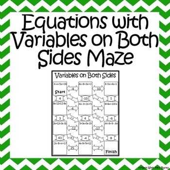 Solving Equations with Variables On Both Sides Worksheet 8th Grade together with 274 Best Inb Algebra Equations Images On Pinterest