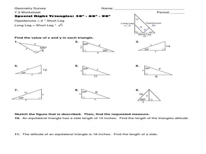 Solving Right Triangles Worksheet Along with Best Special Right Triangles Worksheet New solving Right