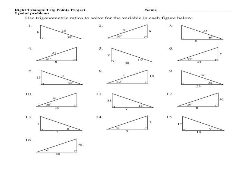 Solving Right Triangles Worksheet Also Worksheets 50 Beautiful Trigonometric Ratios Worksheet High