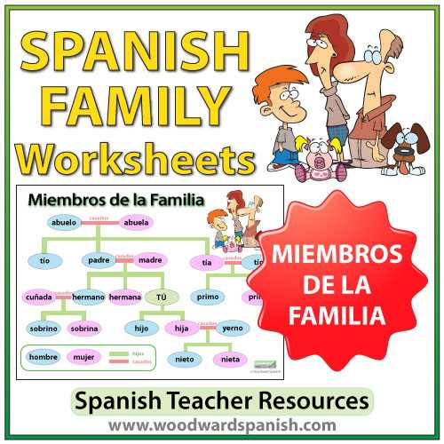 Spanish Family Tree Worksheet or Wall Chart Product Tags
