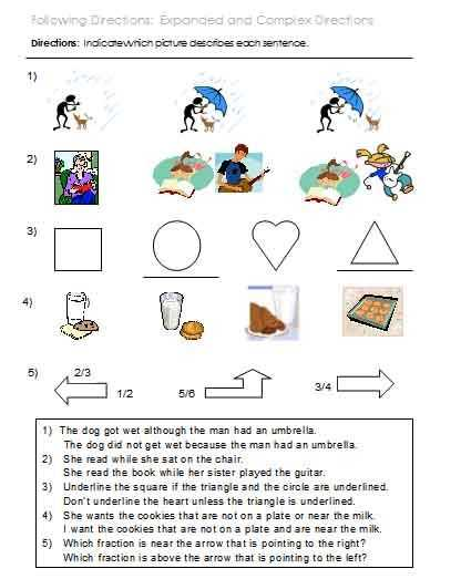 Speech Language Pathology Worksheets with 8 Best Following Directions 3 5 Images On Pinterest