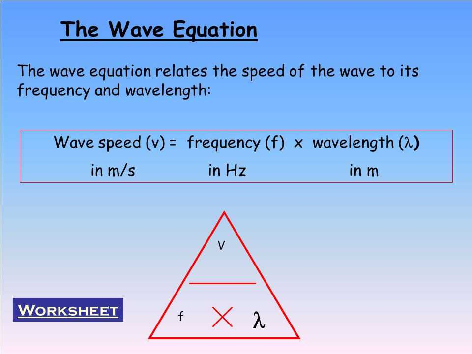 Speed Frequency Wavelength Worksheet as Well as Wave Calculations Worksheet Gallery Worksheet Math for Kids