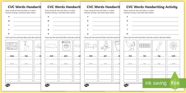 Spelling Word Worksheets Also Cvc Words Handwriting Worksheets Cvc Words Handwriting