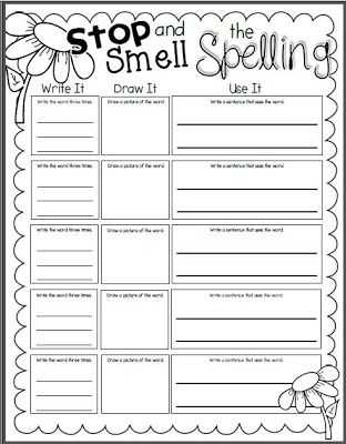 Spelling Word Worksheets with I Do Not Believe that Giving Students A List Of Words and Telling