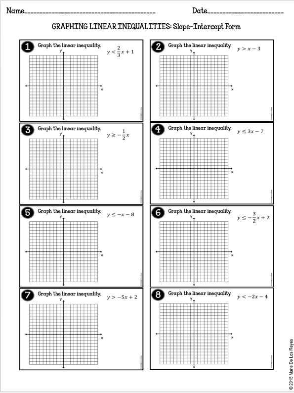 Standard form Of A Linear Equation Worksheet with Math Inequalities Worksheet
