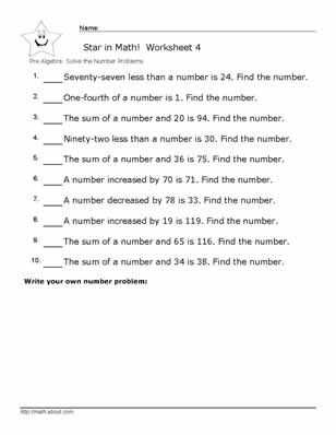 Stem Careers Worksheet 1 Answers and Pre Algebra Number Problem Worksheets with Answers