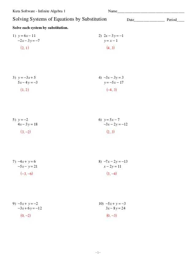 Systems Of Equations Substitution Worksheet Along with Two Systems Equations Worksheet the Best Worksheets Image