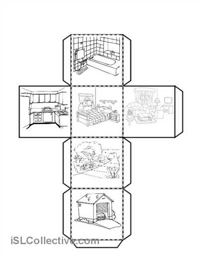 Teacher Made Worksheets with Cube with the Parts Of the House Worksheet Free Esl Printable