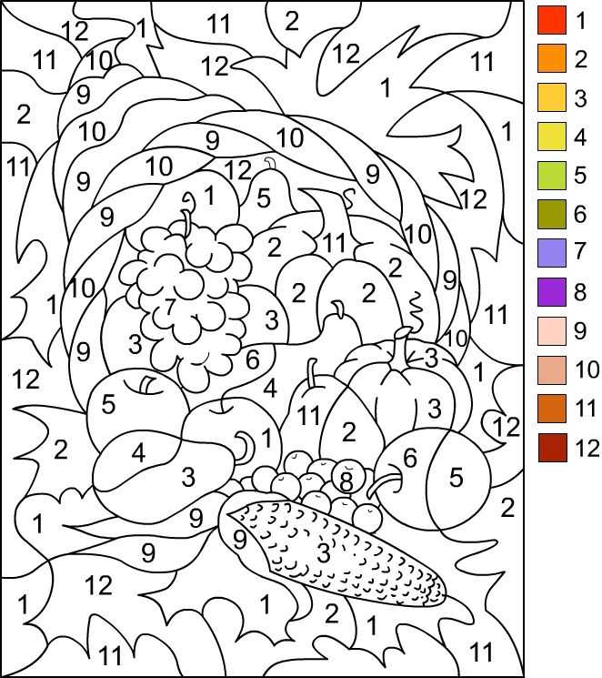 Thanksgiving Color by Number Addition Worksheets with 82 Best Coloriages Codé Images On Pinterest