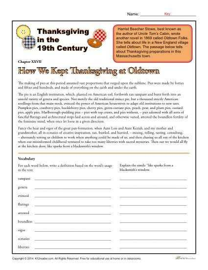 Thanksgiving Reading Comprehension Worksheets and 46 Best Thanksgiving Worksheets and Activities Images On Pinterest