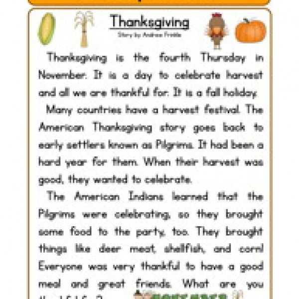 Thanksgiving Reading Comprehension Worksheets or 563 Best Thanksgiving Images On Pinterest