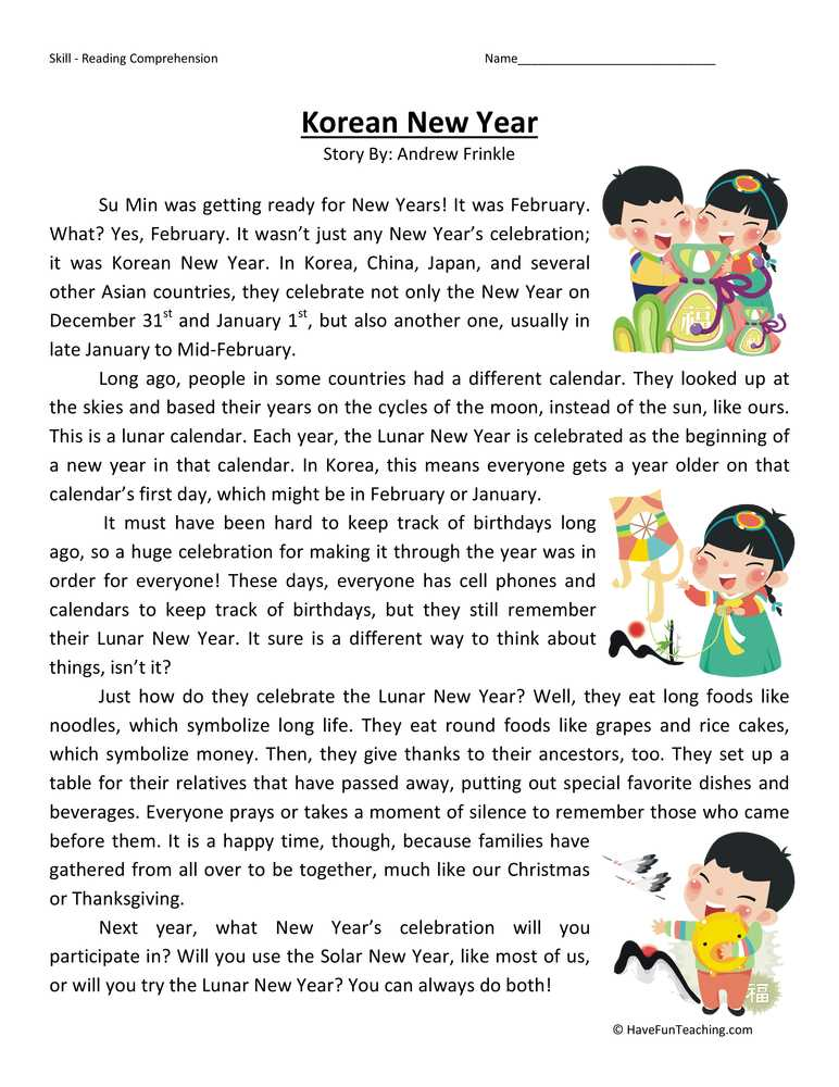 Thanksgiving Reading Comprehension Worksheets with Fifth Grade Reading Prehension Worksheets Page 3 Of 5