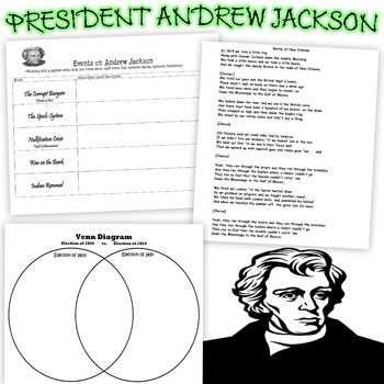 The Age Of Jackson Worksheet Answers Also Battle New orleans Activities Teaching Resources