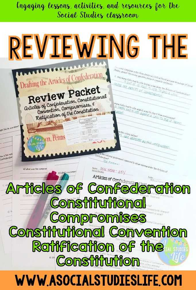 The Constitutional Convention Worksheet Answer Key Along with 71 Best Articles Of Confederation Images On Pinterest