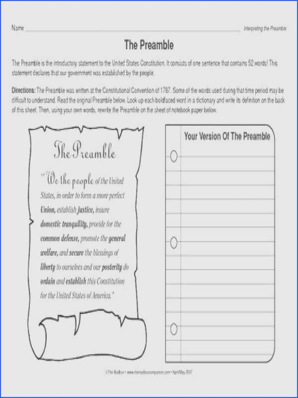 The Constitutional Convention Worksheet Answer Key Also Constitution Worksheet