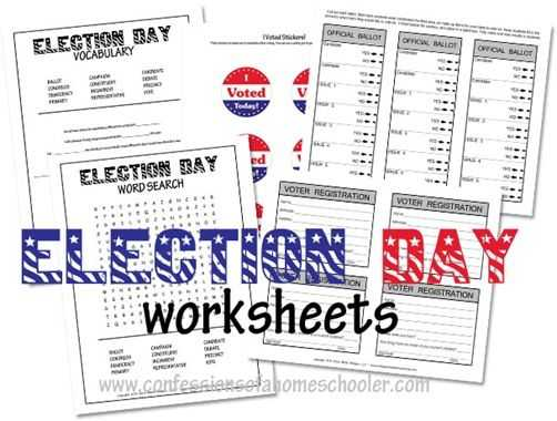 The Electoral Process Worksheet or 25 Best Election Day Ideas for Kids Images On Pinterest