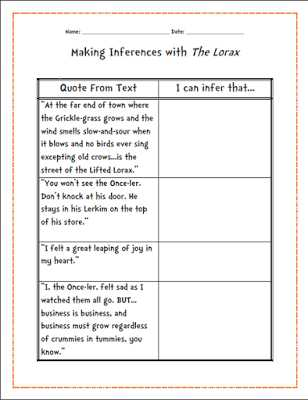 "The Lorax Movie Worksheet Answers or E Stop Teacher Shop Teaching Literacy Through Dr Seuss S ""the"