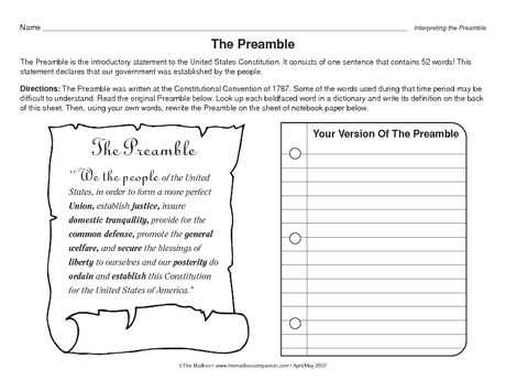 The Us Constitution Worksheet or 54 Best Us Government Multiple Ages Images On Pinterest